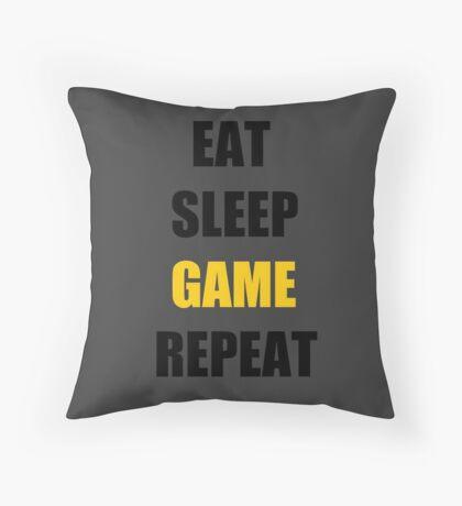 Eat, Sleep, Game. Throw Pillow
