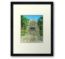 The Captain Cook Cairn Framed Print