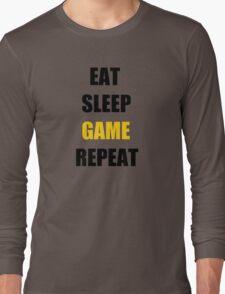 Eat, Sleep, Game. Long Sleeve T-Shirt
