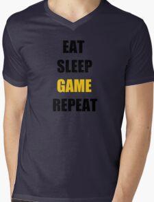 Eat, Sleep, Game. Mens V-Neck T-Shirt