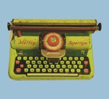 Vintage Tin Mettoy Supertype  Antique Typewriter 1960's Kids Clothes
