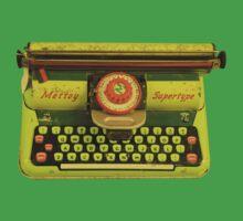 Vintage Tin Mettoy Supertype  Antique Typewriter 1960's One Piece - Short Sleeve