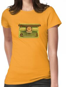 Vintage Tin Mettoy Supertype  Antique Typewriter 1960's Womens Fitted T-Shirt