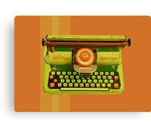 Vintage Tin Mettoy Supertype  Antique Typewriter 1960's Canvas Print