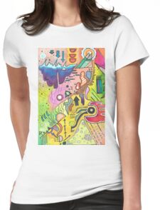 Abstract 360 Womens Fitted T-Shirt