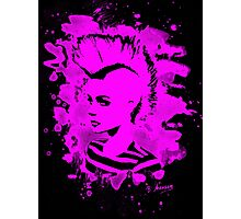 Punk Girl – bleached pink Photographic Print