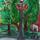 Lamp Post In Washington Square by RobynLee