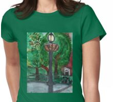 Lamp Post In Washington Square Womens Fitted T-Shirt