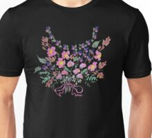 Sweet peas, violets and flowers bouquet. Unisex T-Shirt