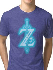 Breath of the Wild Z-Logo (Blue Glow) Tri-blend T-Shirt