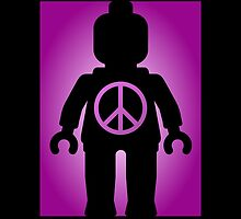 Black Minifig with Peace Symbol by Customize My Minifig by ChilleeW