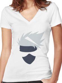 kakashi Women's Fitted V-Neck T-Shirt