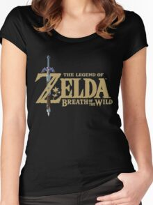 The Legend of Zelda: Breath of the Wild Logo Women's Fitted Scoop T-Shirt