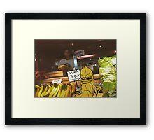 Grumpy Banana Framed Print