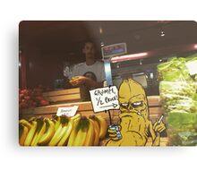 Grumpy Banana Metal Print