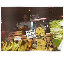 Grumpy Banana Poster