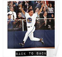 Steph Curry Back to Back MVPs Drake Shirt Poster
