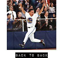 Steph Curry Back to Back MVPs Drake Shirt Photographic Print
