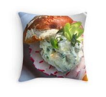 Bavarian Cheese Burger Pillow III Throw Pillow