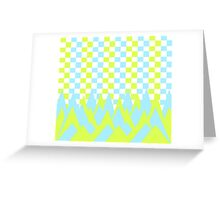 Fancy in yellow and blue Greeting Card
