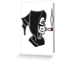 Death hooded kiffen joint Greeting Card