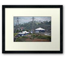 electricity plantation Framed Print