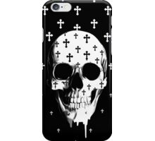 After market, gothic skull with crosses iPhone Case/Skin