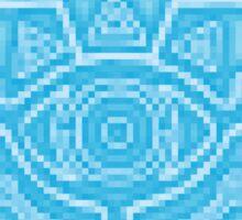Breath of the Wild Sheikah Slate(Blue Glow) Sticker
