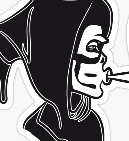 Death hooded kiffen joint Sticker