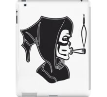 Death hooded kiffen joint iPad Case/Skin