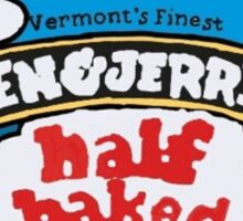 ben and jerrys half baked ice cream Sticker