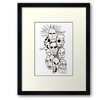 Slipknot Continuous Line Framed Print