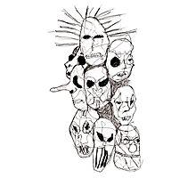 Slipknot Continuous Line Photographic Print