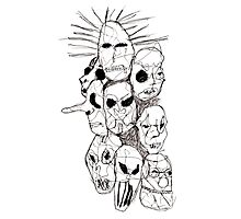 Slipknot Continuous Line Photographic Print