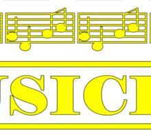 Musician Yellow Sticker