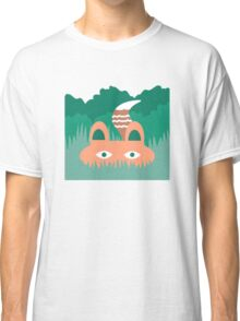 Hide and Seek Fox Illustration Classic T-Shirt
