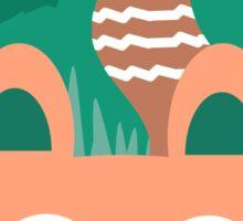 Hide and Seek Fox Illustration Sticker