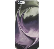 Gray purple modern  abstract CH iPhone Case/Skin