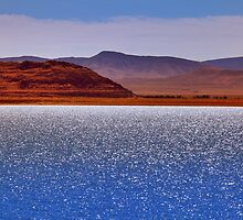 Pyramid Lake in the Wind by SB  Sullivan