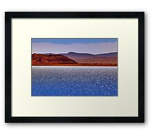 Pyramid Lake in the Wind Framed Print