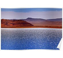 Pyramid Lake in the Wind Poster
