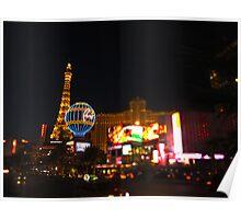 Las Vegas Eiffel tower Poster