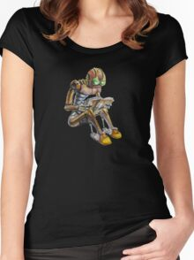 Reading robot Women's Fitted Scoop T-Shirt