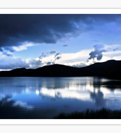 Cloud-break at Lake Tutira Sticker