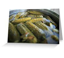 crispy salted cucumbers Greeting Card