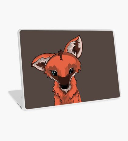 Cute Maned Wolf Design Laptop Skin