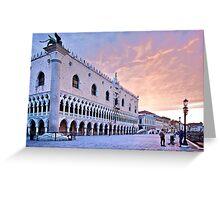 Sunrise in Venice III Greeting Card