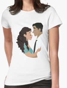 How Do You Say Hold Me? Womens Fitted T-Shirt