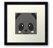 Face Panda Framed Print