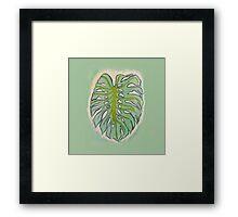 elephant leaf Framed Print